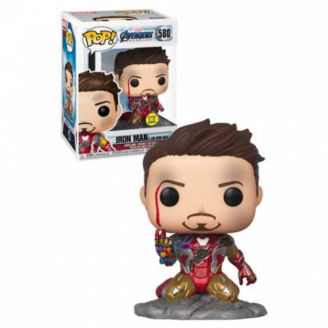 Funko POP! Marvel: Avengers Endgame - Iron Man (I Am Iron Man) (Glows in the Dark) Special Edition #580 Bobble-Head Vinyl Figure