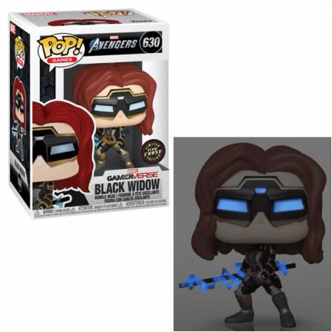 Funko POP! Marvel: Avengers Game - Black Widow (Stark Tech Suit) w/ Glow Chase #630 Vinyl Figure