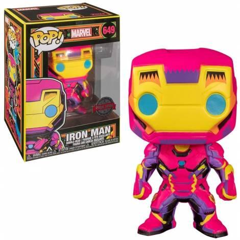 Funko POP! Marvel: Black Light - Iron Man (Special Edition) #649 Bobble-Head Vinyl Figure