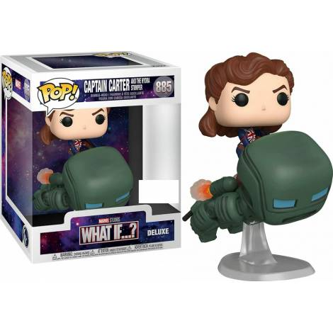 Funko Pop! Marvel Deluxe: What If - Captain Carter and The Hydra Stomper #885 Vinyl Figure