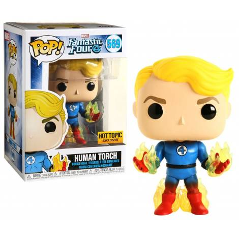Funko POP! Marvel: Fantastic Four - Human Torch with Flames (Special Edition) #569 Bobble-Head Vinyl Figure