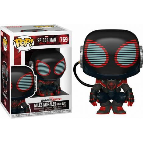 Funko Pop! Marvel Gamerverse: Spider-Man - Miles Morales (2020 Suit) #769 Bobble-Head Vinyl Figure