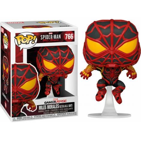 Funko POP! Marvel Gamerverse : Spider-Man - Miles Morales (S.T.R.I.K.E. Suit) #766 Bobble-Head Vinyl Figure