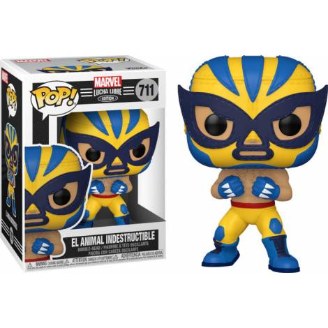 Funko POP! Marvel: Lucha Libre Edition - El Animal Indestructible #711 Bobble-Head Vinyl Figure