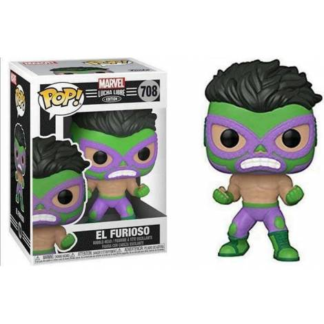 Funko POP! Marvel: Lucha Libre Edition - El Furioso #708 Bobble-Head Vinyl Figure