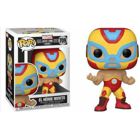 Funko POP! Marvel: Lucha Libre Edition - El Heroe Invicto #709 Bobble-Head Vinyl Figure