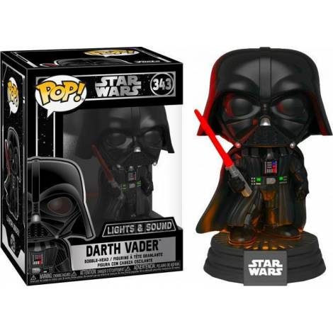 Funko POP! Movies: Darth Vader #343 Electronic Bobble Head Vinyl Figure (Light-Up & Sound)