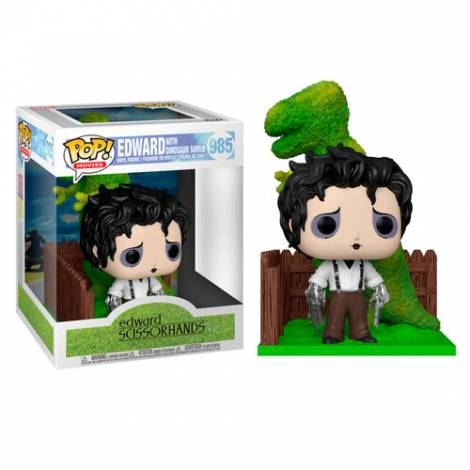 Funko POP! Movies Deluxe: Edward Scissorhands - Endward with Dinosaur Shrub #985 Vinyl Figure