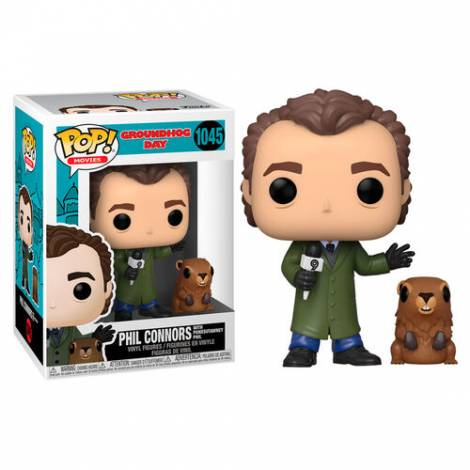 Funko POP! Movies: Groundhog Day - Phil Connors w/ Punxsutawney Phil #1045 Vinyl Figures