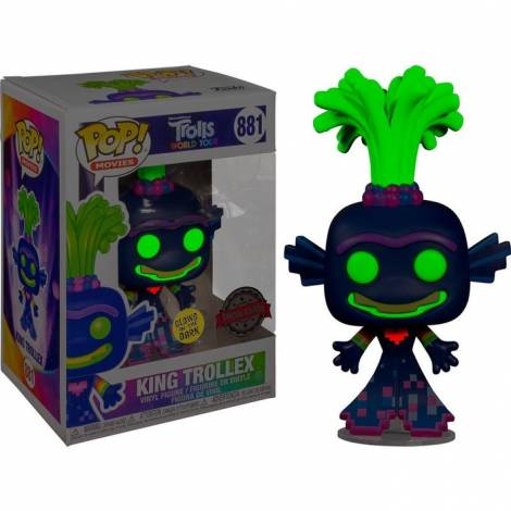 Funko POP! Movies: Trolls World Tour - King Trollex #881 Vinyl Figure Special Edition