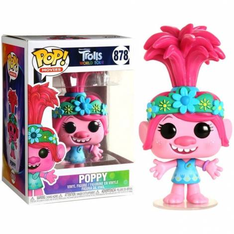 Funko POP! Movies: Trolls World Tour - Poppy #878 Vinyl Figure