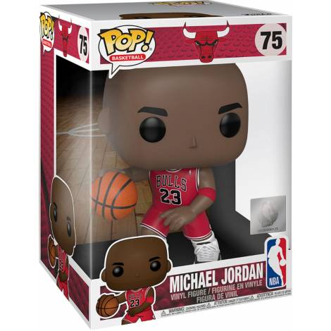 Funko POP! NBA - Michael Jordan (Red Jersey) Supersized Figure #75