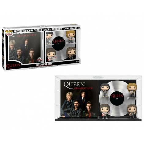 Funko POP! Queen - Greatest Hits (Freddie Mercury, Roger Taylor, Brian May, John Deacon) Vinyl Figures (FK60991)