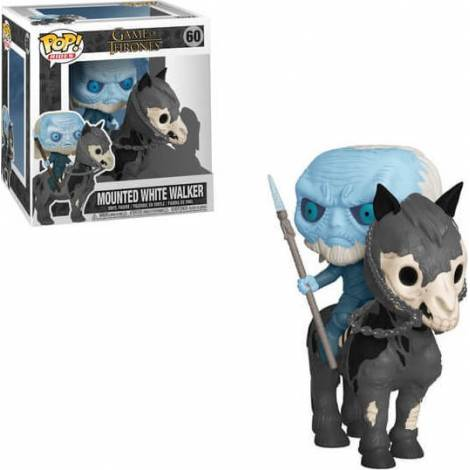 Funko Pop! Rides: Game Of Thrones S10 - Mounted White Walker on Horse #60 Vinyl Figure