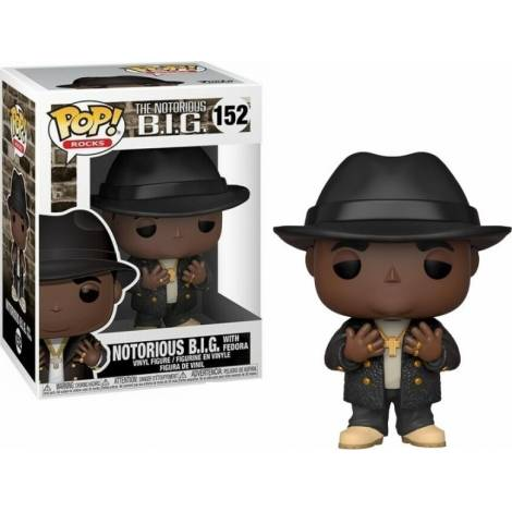 Funko POP! Rocks: Notorious B.I.G. - Notorious B.I.G. with Fedora #152 Vinyl Figure
