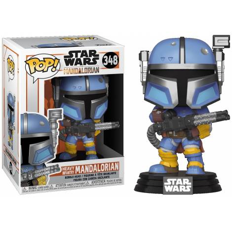 Funko POP! Star Wars: Mandalorian - Heavy Infantry Mandalorian (MT) #348 Vinyl Figure