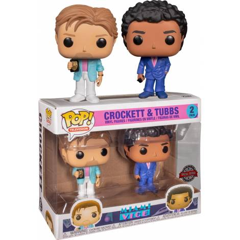 Funko POP! Television : Miami Vice - Crockett and Tubbs 2-Pack Figures (Special Edition)