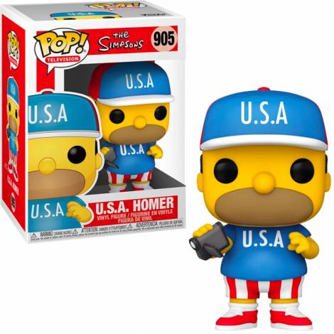 Funko POP! Television : The Simpsons - U.S.A. Homer #905 Vinyl Figure