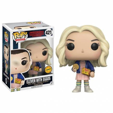 Funko Pop! television Vinyl (Chase) Eleven with Eggos (Stranger Things) – Funko #421