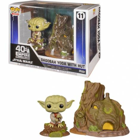 Funko POP! Town: Star Wars: The Empire Strikes Back 40th - Dagobah Yoda with Hut (15cm) #11 Bobble-Head Vinyl Figure
