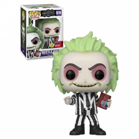 Funko Pop!Movies : Beetlejuice With Handbook Of Recently Deceased (Glow In The Dark)  (Exlusive Limited Edition)  #1010