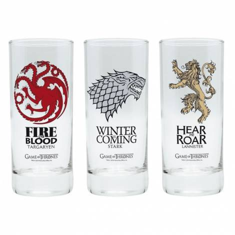 Game of Thrones - 3x Glasses Set (ABYVER058)
