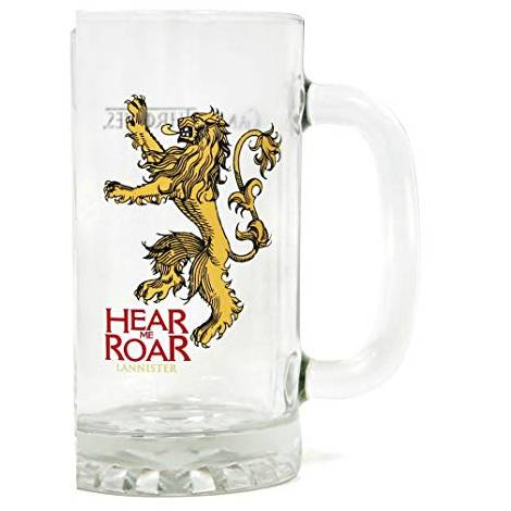 Game Of Thrones - Lannister Hear Me Roar Beer Glass