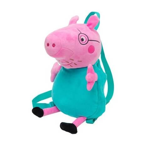 Giochi Preziosi: Peppa Pig λούτρινο backpack - Daddy (470675)
