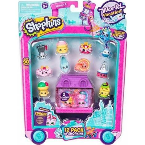 Giochi Preziosi - Shopkins S8 World Vacation W1 12 Τμχ Καρτελα (HPK95011)