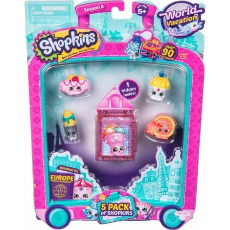 Giochi Preziosi - Shopkins S8 World Vacation W1 5 Τμχ Καρτελα (HPK97011)