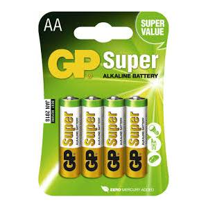 GP Super Alkaline Battery 4pcs AA
