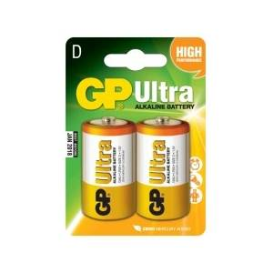 GP ULTRA ALKALINE D - 2 PACK