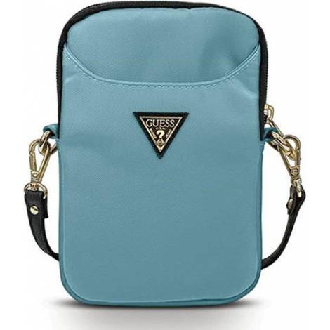 Guess Nylon Triangle Logo Τσάντα Μπλε (Universal 8