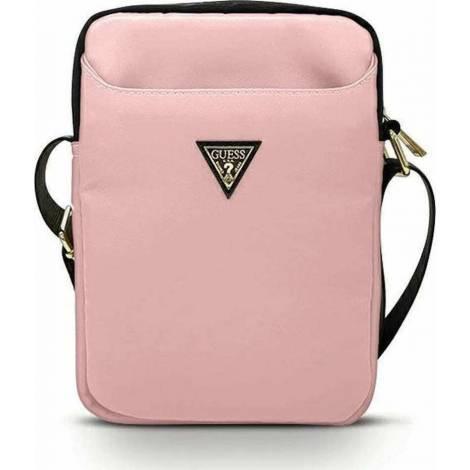 Guess Nylon Triangle Logo Τσάντα Ροζ (Universal 10