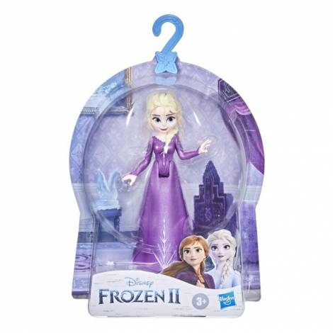 Hasbro Disney : Frozen II - Elsa Small Doll With Removable Cape - Purple Dress 10cm (F0794)