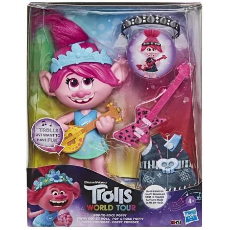 Hasbro Dreamworks: Trolls World Tour - Pop-To-Rock Poppy Singing (E94115E0)