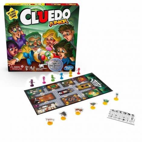 Hasbro Επιτραπέζιο: Cluedo Junior - Η Υπόθεση του Σπασμένου Παιχνιδιού (Ελληνικά) (C1293458)