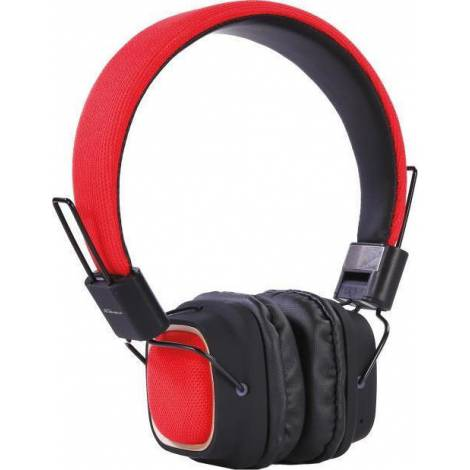 Headphone Digital Element HD-800 Fabric Bluetooth Red (PC) - Με πιεσμένο κουτάκι