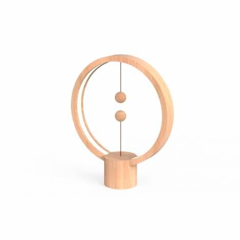 Allocacoc Heng Balance |Wooden Lamp Round| Διακοσμητική λάμπα με μαγνητικό διακόπτη (Light Wood) (DH0039LW/HBLRUB)