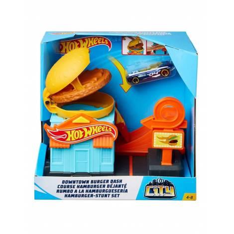 Hot Wheels City VS Robo Beasts - Downtown Burger Dash Playset (GPD09)