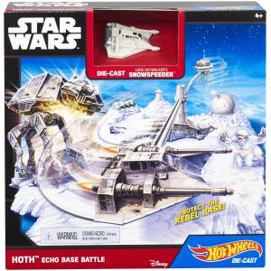 HOT WHEELS STAR WARS THE FORCE AWAKENS SPACE STATION - HOTH ECHO BASE BATTLE (CGN34)