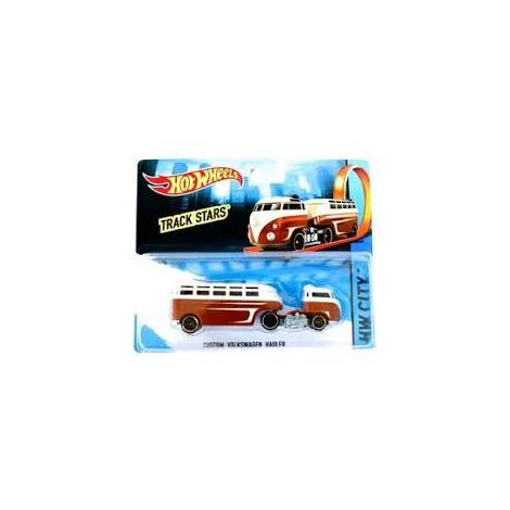 HOT WHEELS TRACK STARS - TRAILERS - CUSTOM VOLKSWAGEN HAULER RED (CGJ44)