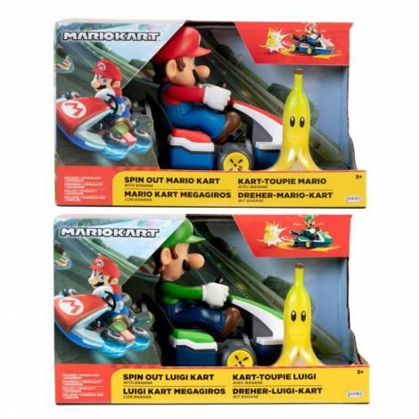 Jakks - Αυτοκίνητο Kart spin out Super Mario (2 σχέδια) (JPA86000)