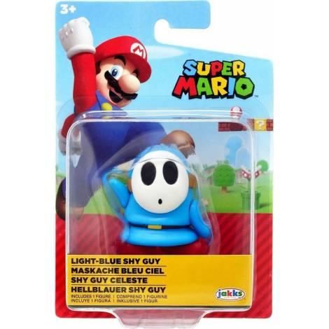 Jakks Pacific - Φιγούρα 6,5 cm Super Mario Wave 25 - Light Blue Shy Guy (JPA40540)