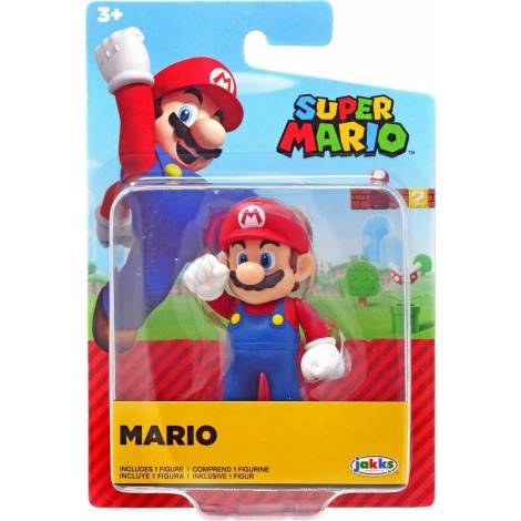 Jakks Pacific - Φιγούρα 6,5 cm Super Mario Wave 25 - Mario (JPA40539)