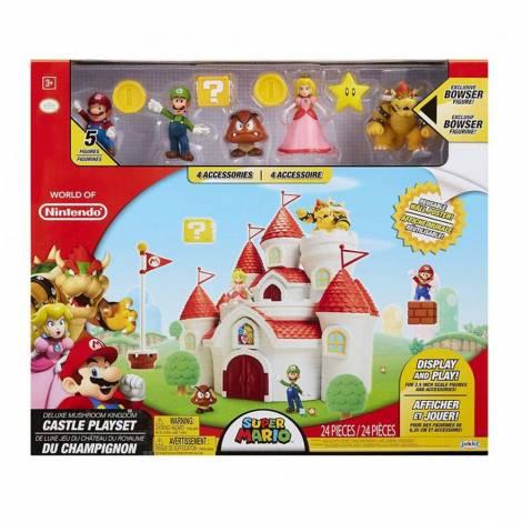 Jakks Pacific Κάστρο Super Mario Deluxe με φιγούρες (70843)