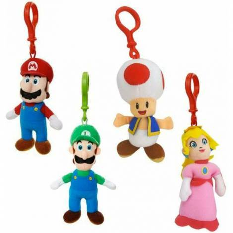 Jakks Pacific Μπρελόκ Λούτρινα Super Mario (4 σχέδια) Random
