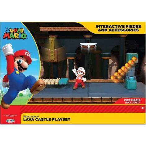 Jakks Pacific Super Mario Lava Castle Playset (40017)