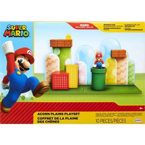 Jakks Pacific Super Mario με Φιγούρες Acorn Plains (85991)