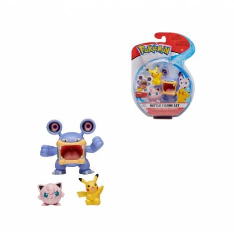 Jazwares: Pokemon Battle Figure Σετ (3 τμχ) - Loudred & Pikachu & Jigglypuff (JW097921) (97922)